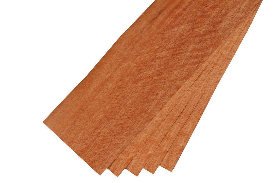 "Quartersawn Figured Curupixa Veneer Sheet (23"" x 6-3/4"")"
