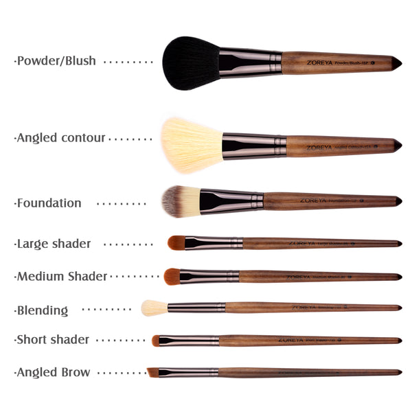 Foundation Brush – this makeup brush comes in many different types as well, but the classic foundation brush comes in a flat shape.