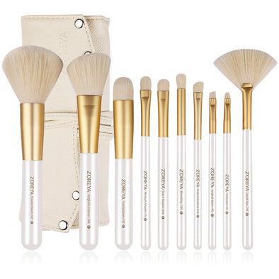 10 piece Gold Makeup Brushes
