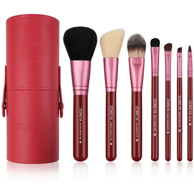 7 Professional Cone Case Brushes (RED)