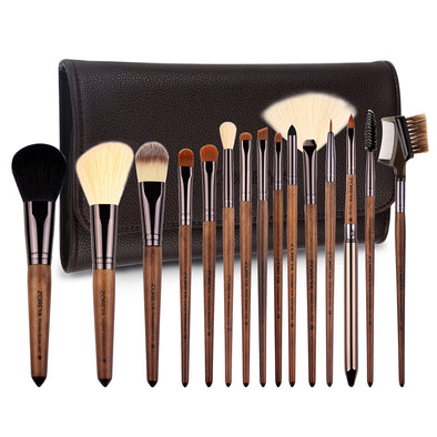 15 Pieces Premium Walnut Brush set