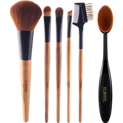 6 Piece Bamboo Brushes