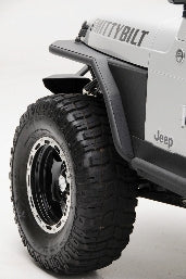 XRC Front Tube Fenders W/ 3 Flare - Black Textured Jeep, 97-06 Wrangler (TJ/LJ)