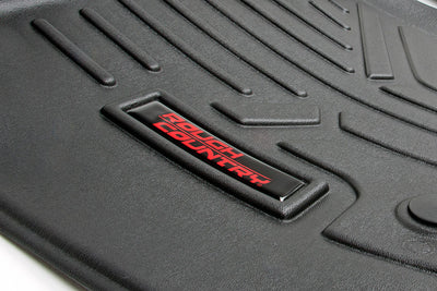 Heavy Duty Floor Mats - Front & Rear Combo (Crew Cab Models w/ Raised Pedal)