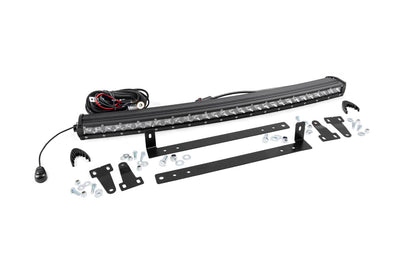 Single Row LED Light Bar Grille Mount w/ 30-inch Chrome Series CREE LED Light Bar