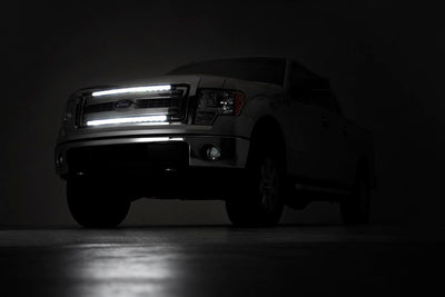 Dual Set of Single Row LED Light Bar Grille Mounts w/ 30-inch Chrome Series CREE LED Light Bars