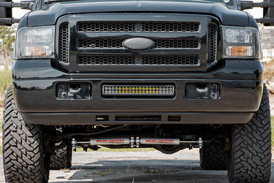 20-inch Black Series Dual Row LED Light Bar w/ Hidden Bumper Mounts