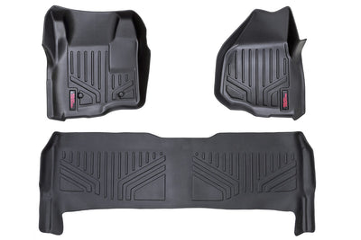 Heavy Duty Floor Mats - Front & Rear Combo (Crew Cab Models w/ Depressed Pedal)