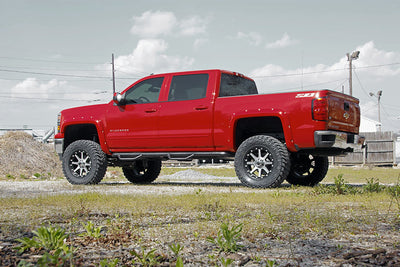 7-inch Suspension Lift Kit (Factory Cast Aluminum & Stamped Steel Control Arm Models), Chevrolet: 14-18 Silverado 1500 4WD; GMC: 14-17 Sierra 1500 4WD