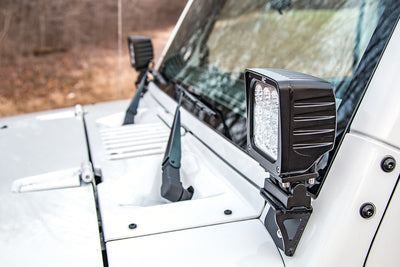 Lower Windshield Light Mounts (Jeep JK)