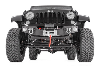 Front Hybrid Stubby Bumper with Integrated Fog Light Mounts