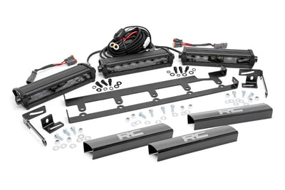 8-inch Black Series Vertical LED Light Bar Grille Kit (3 Lights)