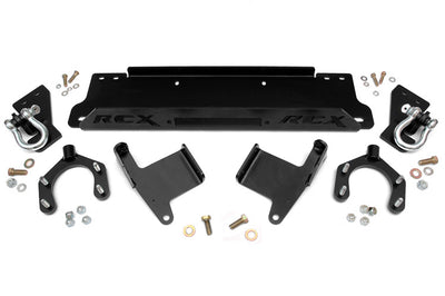 Factory Bumper Winch Mounting Plate (Includes D-Rings)