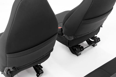 Black Neoprene Seat Cover Set (Front & Rear)