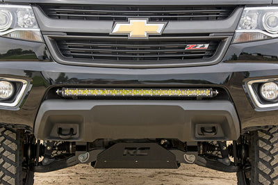 30-inch Single Row LED Light Bar Hidden Bumper Mount