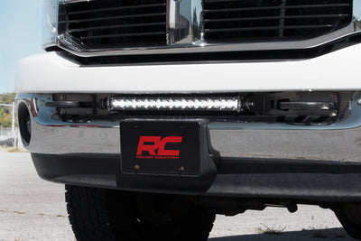 20-inch Single or Dual Row LED Light Bar Hidden Bumper Mounting Brackets