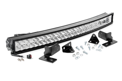 40-inch X5 Series Dual Row CREE LED Light Bar & Hidden Bumper Mounts Kit