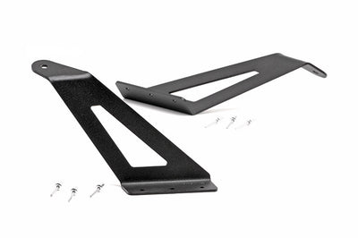 54-inch Curved LED Light Bar Upper Windshield Mounting Brackets (Ford Super Duty)