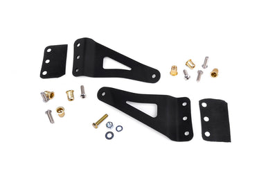 50-inch Curved LED Light Bar Upper Windshield Mounting Brackets (GM Pickup / SUV)