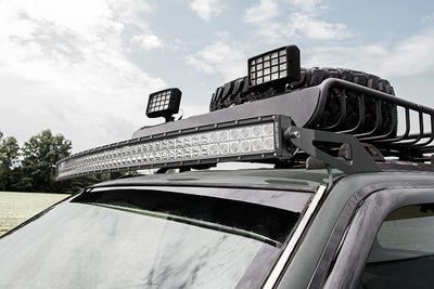 50-inch Curved LED Light Bar Upper Windshield Mounting Brackets (Jeep Grand Cherokee ZJ)