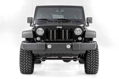 8-inch Black Series Vertical LED Light Bar Grille Kit (4 Lights)