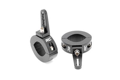 Universal LED Light Adjustable 2.5-3-inch OD Tube Mounting Clamps (Pair)