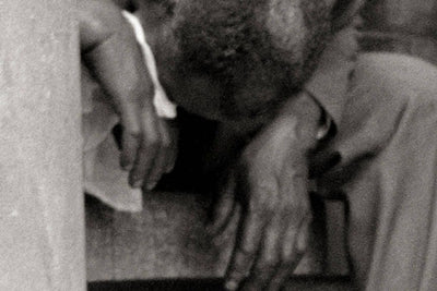 Black man weeps while Sitting, Chicago, 1941