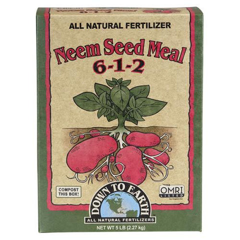 Down To Earth Neem Seed Meal - 5 lbs - Fort Collins Mountain Lion Garden Supply