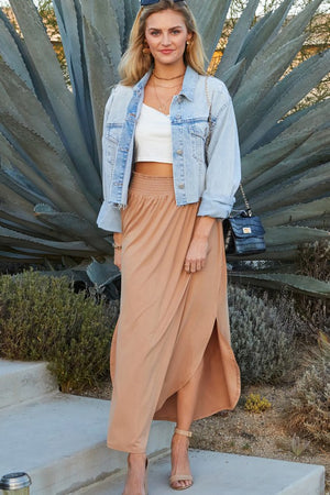 Summer Girl - Camel Maxi Skirt