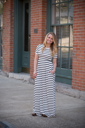 Stripe Maxi with Pockets