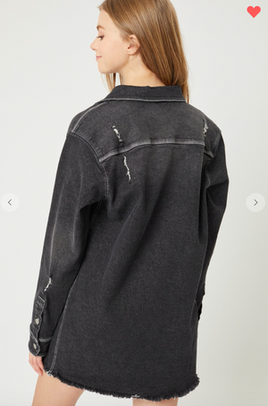Expressive - Distressed Denim Overshirt