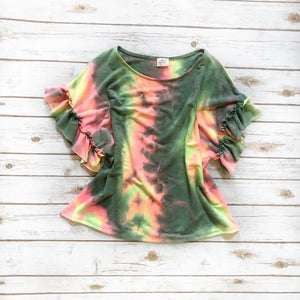 Neon Mix - Tie Dye Ruffle Top