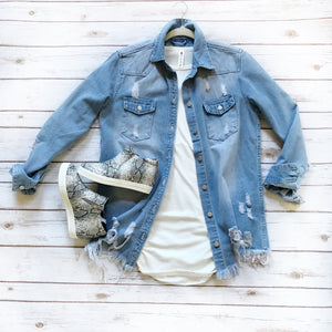 Catch Me Outside - Denim Jacket