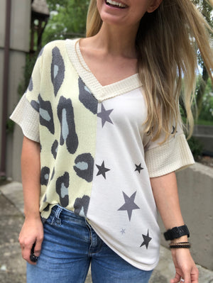 Leopard Stars - Ivory Star and Leopard Top
