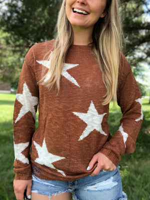 Fault In Our Stars - Camel Star Sweater