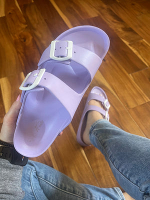 Take Me To The Pool - Lavender Water Slide Sandal