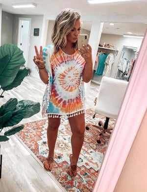 Summer Vibes - Tie Dye Cover Up