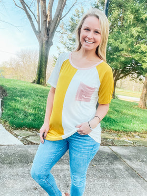 Sweet Supply - Color Block Top