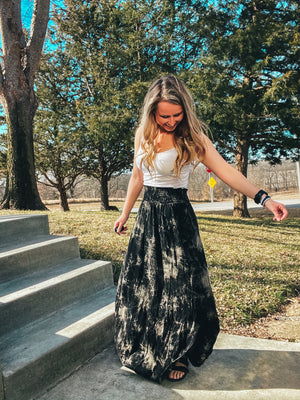 Stay Up Late - Tie-Dye Maxi Skirt