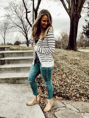 Everyone Loves - Stripe Cardigan