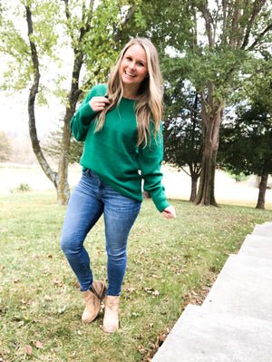 The Grass Is Greener - Kelly Green Sweater