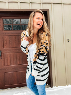 Urban Jungle - Leopard Stripe Cardigan