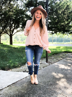 Dusty Blush - Button Shirt