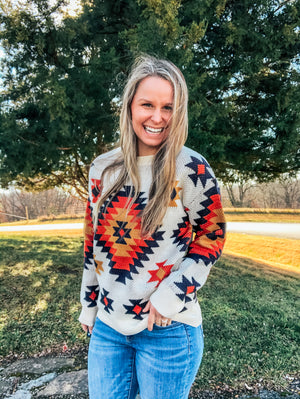 For The Love of Aztec - Aztec Sweater