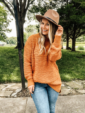 Fall Called - Mustard Popcorn Sweater