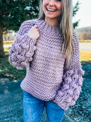 Field of Lavender - Lavender Bubble Sweater