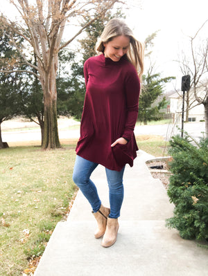 Dark Burgundy Tunic - DOORBUSTER