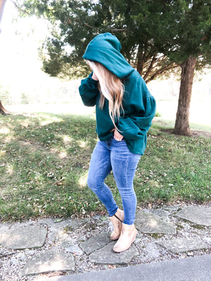 Glow With The Flow - Teal Hoodie Sweatshirt