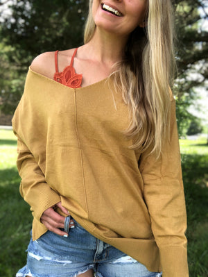 Fall into Fall - Mustard Sweater