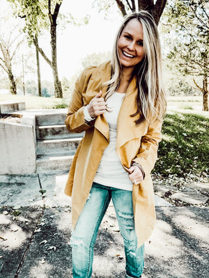 Leaves Are Changing - Mustard Jacket